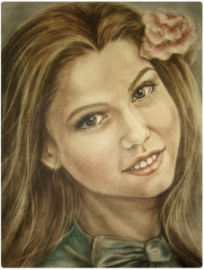 Заказать портрет в технике сухая кисть. Портрет в цвете