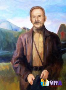 Портрет летчика имитация живописилого