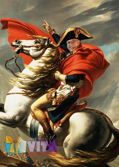 портрет на коне имитация живописи