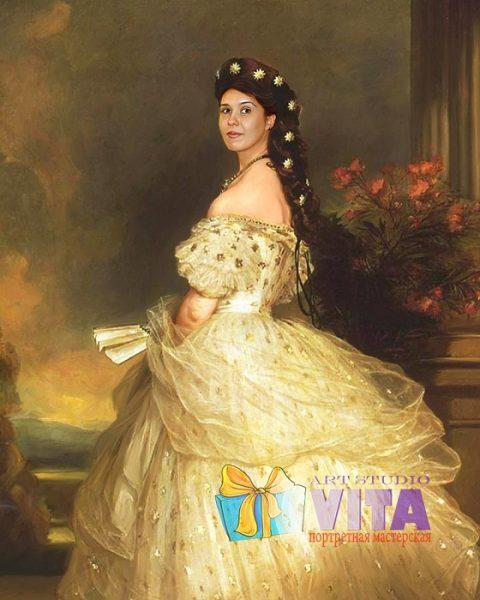 Портрет дамы в платье