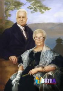 Исторический портрет. Картина на холсте