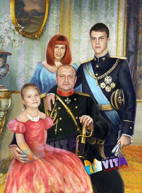 Цифровая живопись портрет исторический в образе