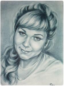Портрет сухая кисть 1