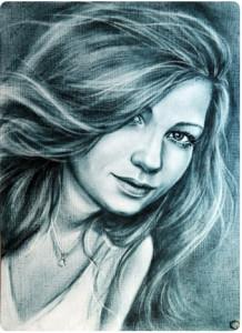 Портрет сухая кисть 4