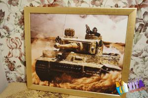печать фото на холсте танк