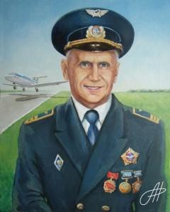 Портрет маслом мужчины военного