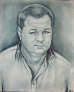 Портрет мужской в стиле Сухая кисть 8