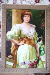 женщина портрет на холсте