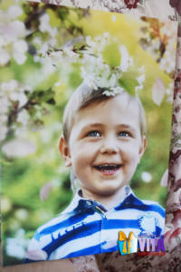 Мальчик фото на холсте