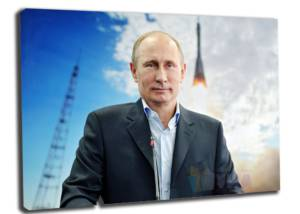 Портрет Путина в Казани