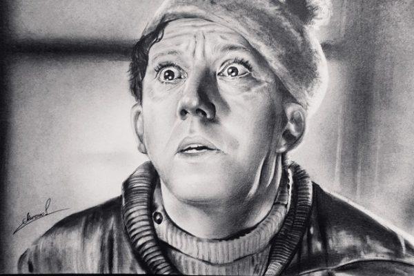 Портрет карандашом Никулин