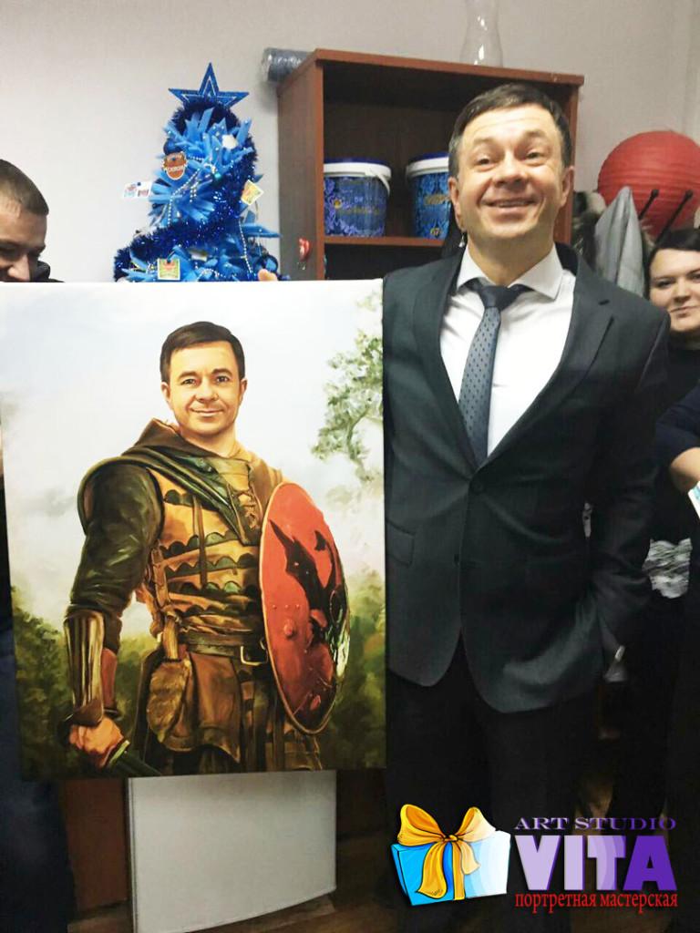 портрет имитация живописи на мужчину