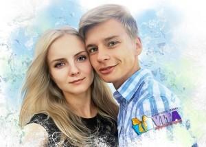 Нежный Арт. Портрет красивой пары