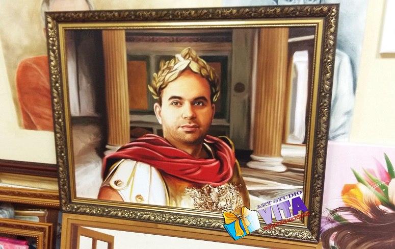 Портрет исторически имитация живописи Цезарь
