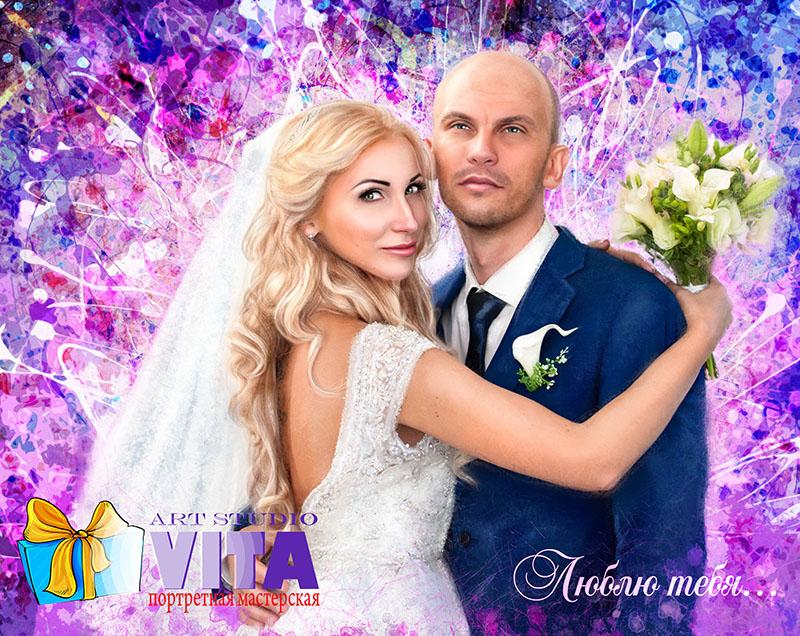 портрет на свадьбу в Тюмени