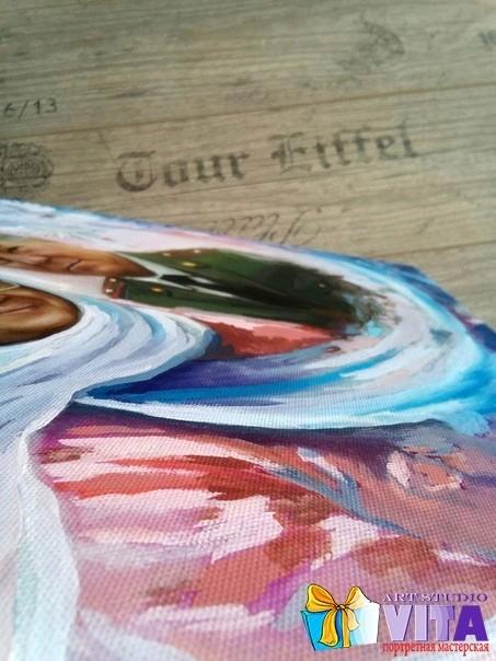 Покрытие картины красками