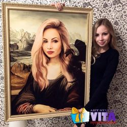Заказать портрет по фото клиент с портретом Портрет в Кирове