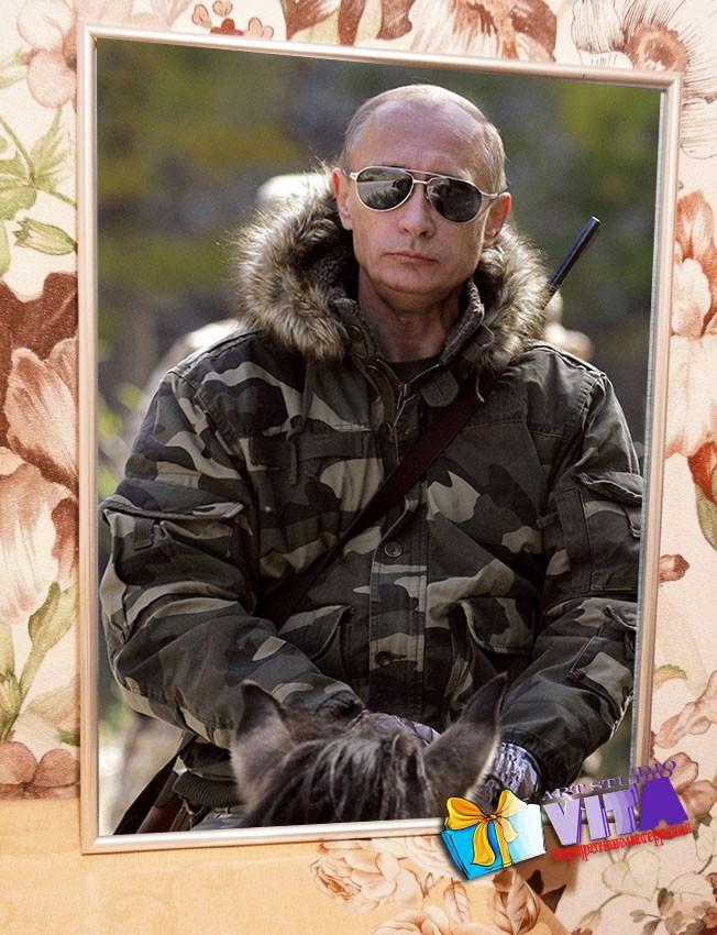 Портрет Путина в Рязани