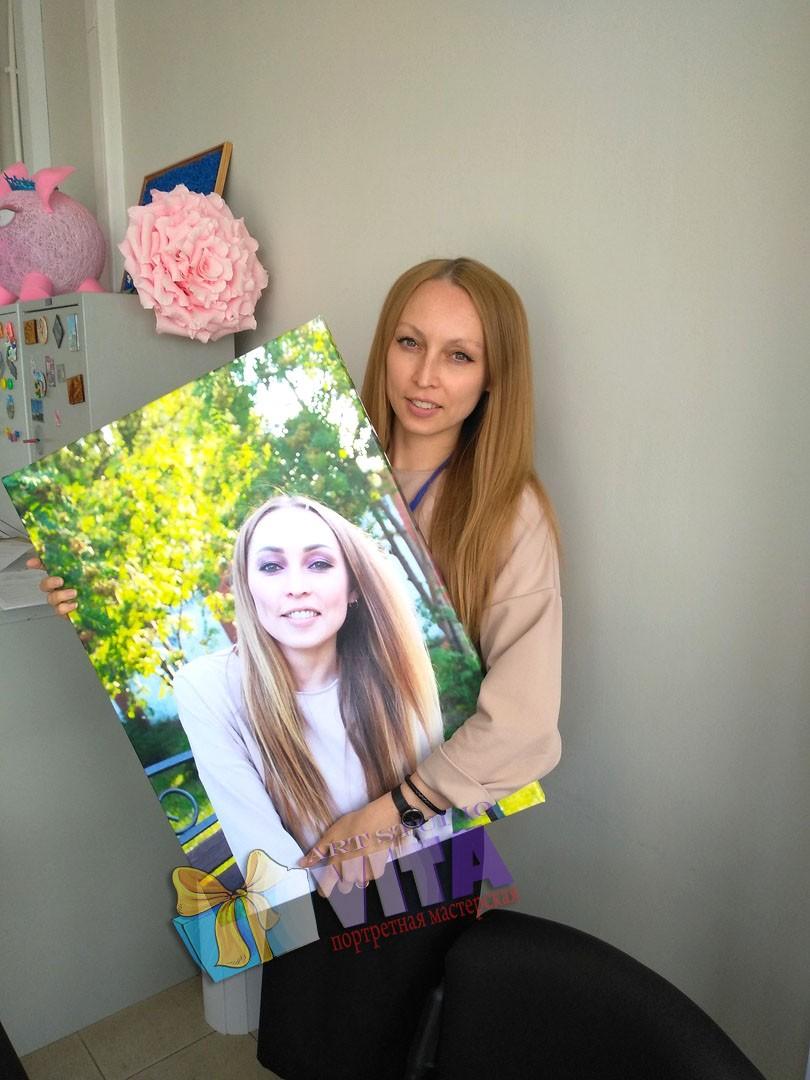 Печать фото на холсте фото с получателем