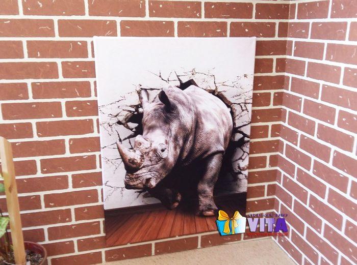 3Д постер носорог