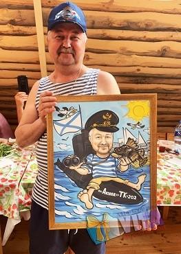 Шарж в подарок моряку Портрет в Кирове