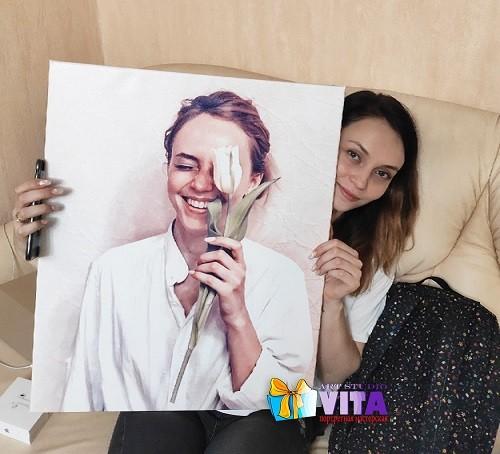 Печать фото на холсте от Vita Studio (1) Портрет в Кирове