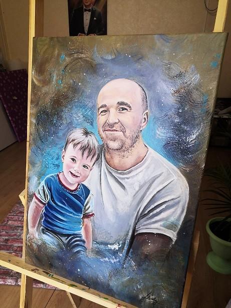 Портрет Акрилом (2)