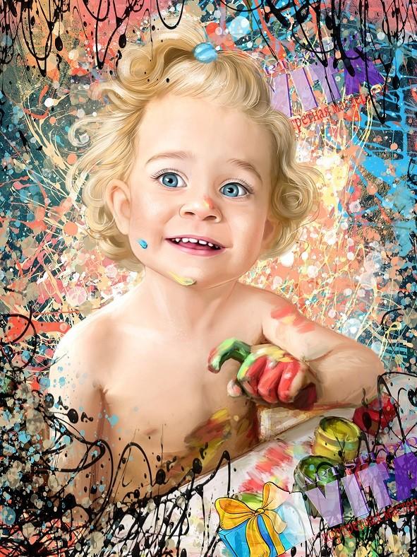 Дрим Арт ребенка портрет ребенка