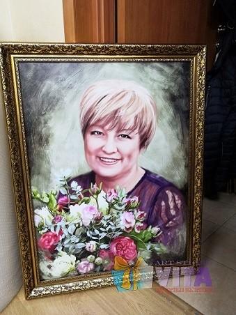Цифровые портреты на холсте в багете