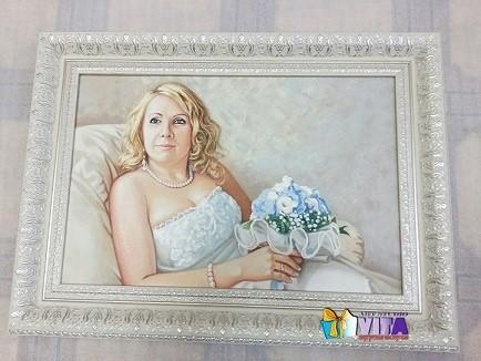 портрет маслом белый