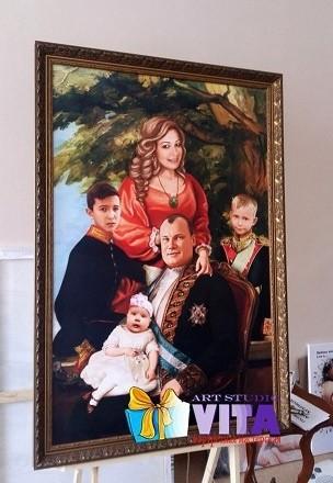 Семейный портрет на холсте (2)
