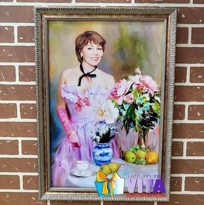 имитация живописи портрет в багете