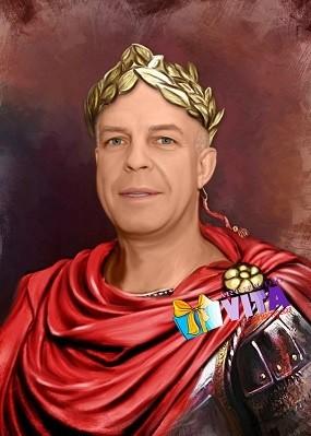 портрет имитация живописи цезарь