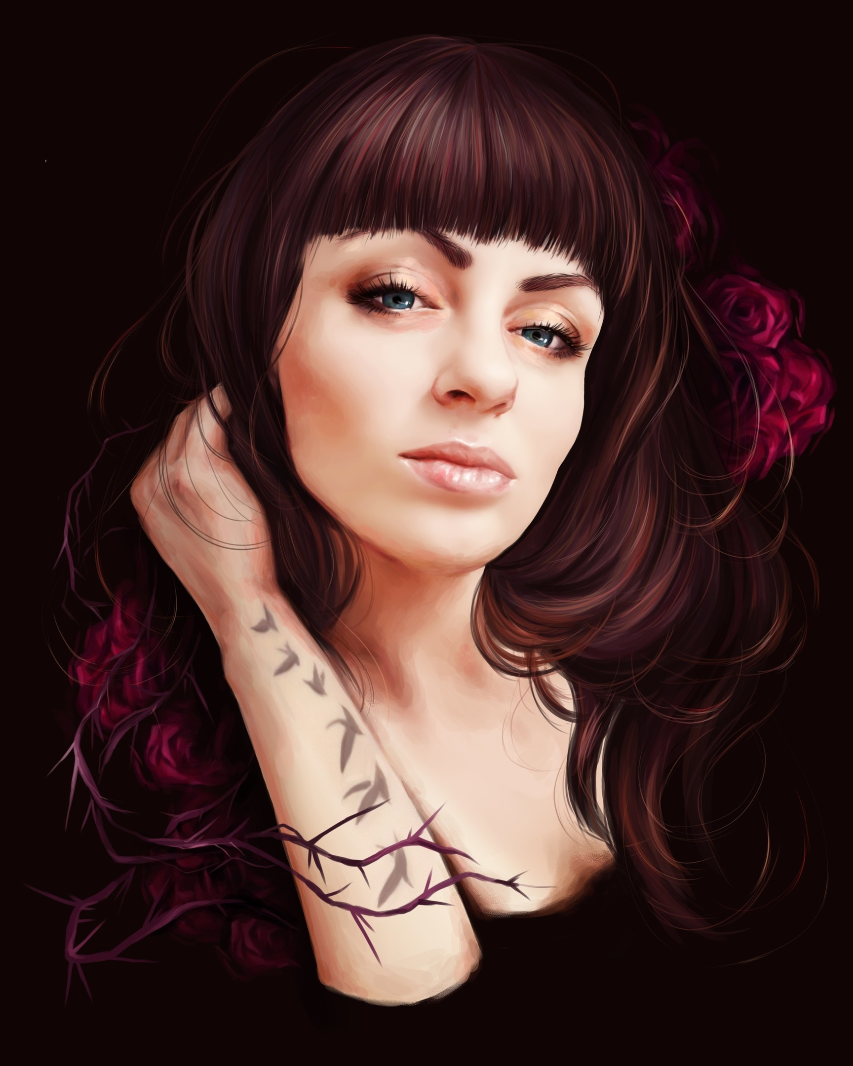 Портрет девушки цифровая живопись