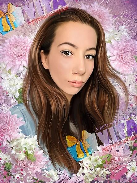 Портрет цветочный Арт