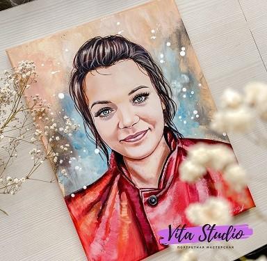 Портрет маслом девушки