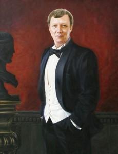 Имитация живописи портрет мужчины