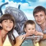 портрет семейный цифровой