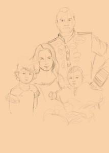 Этап 1 рисования цифрового портрета