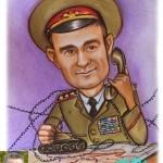 Шарж пастельными мелками 99 военный