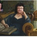 Портрет имитация живописи на холсте 10
