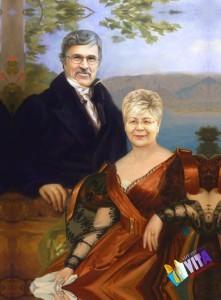 исторический портрет на хосте, картина