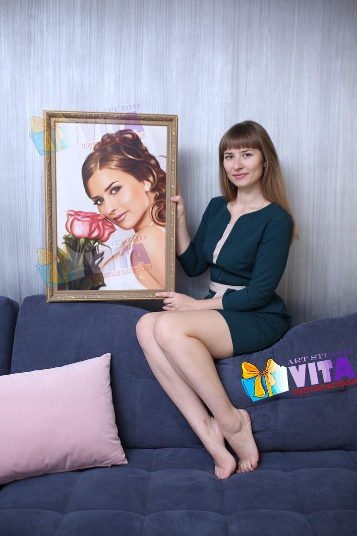 Цифровой портрет. Цифровое масло. Цифровая живопись