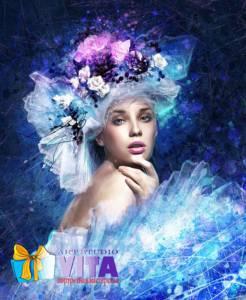 Портрет в стиле Гранж на холсте от Vita Studio