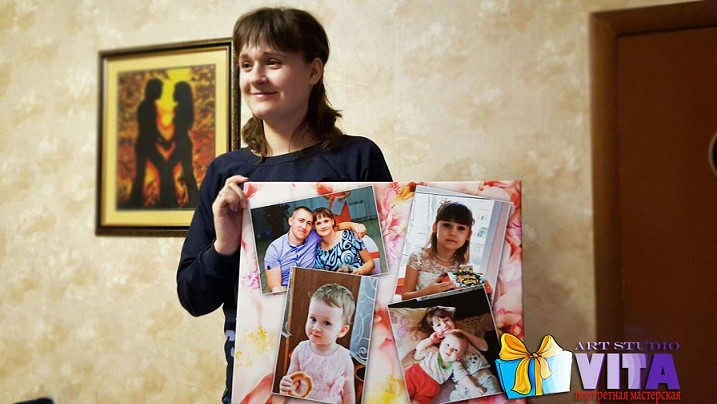 Семейный портрет - коллаж по фото