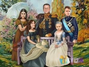 имитация живописи семейный портрет