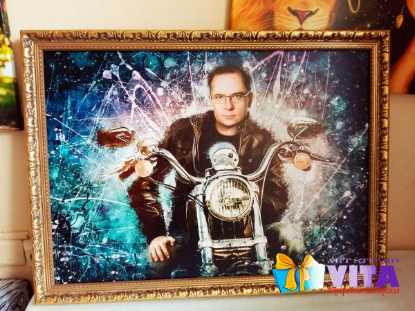 Портрет на холсте в Ростове-на-Дону