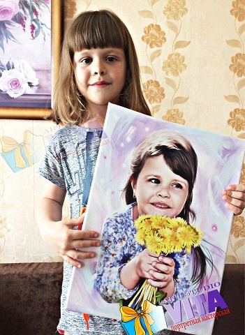 Девочка на портрете Нежный Арт